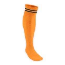 Chaussettes Rugby Pro 2 filets Orange/Noir JICEGA
