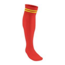 Chaussettes Rugby Pro 2 filets Rouge/Jaune JICEGA