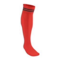 Chaussettes Rugby Pro 2 filets Rouge/Noir JICEGA