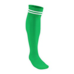 Chaussettes Rugby Pro 2 filets Vert/Blanc JICEGA