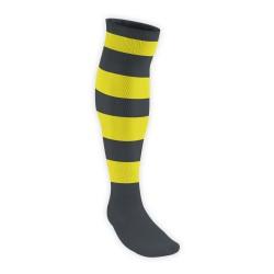 Chaussettes Rugby Pro Cerclées Noir/Jaune JICEGA