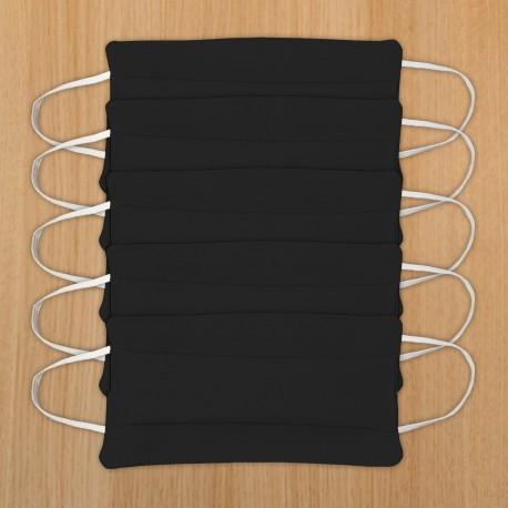 5 masques en tissu - Noir