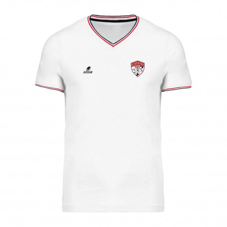 Tee-shirt Col V Homme Blanc COPO RUGBY
