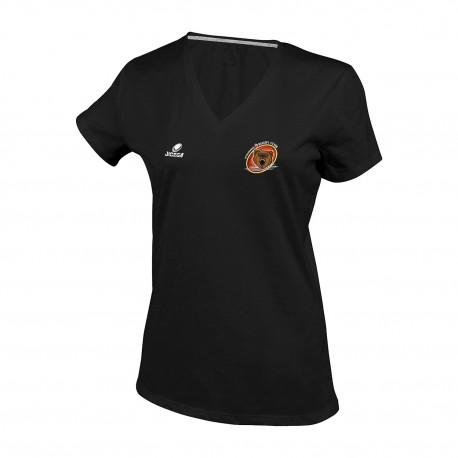 Tee-shirt BRISTOL Femme col V OTTMARSHEIM RUGBY CLUB