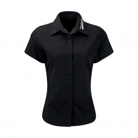 Chemise manches courtes Femme Noir RC THANN