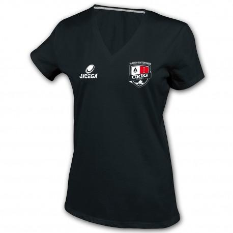 Tee-shirt Femme col V CRIG RUGBY