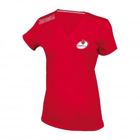 Tee-shirt Femme col V RUGBY CLUB SAINT LOUIS