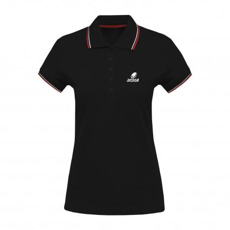 Polo Femme couleurs contrastées BECKS Noir/Rouge/Blanc