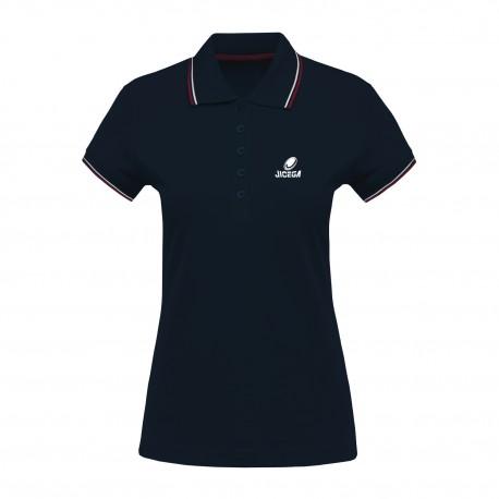 Polo Femme couleurs contrastées BECKS Marine/Rouge/Blanc